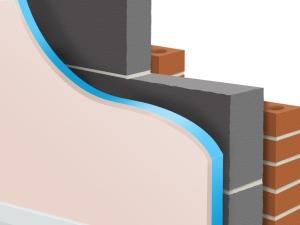 Один из вариантов внутреннего утепления полимерным стиролом