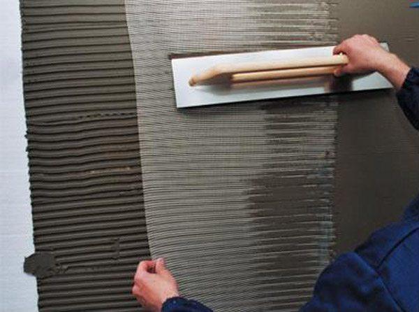 Отделка поверхности армированной сеткой и ее шпатлевка