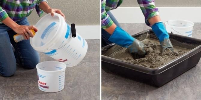 Как сделать уличный вазон для цветов из цемента