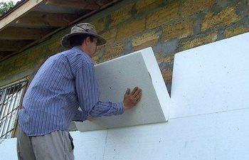 Пенопласт на наружной стене