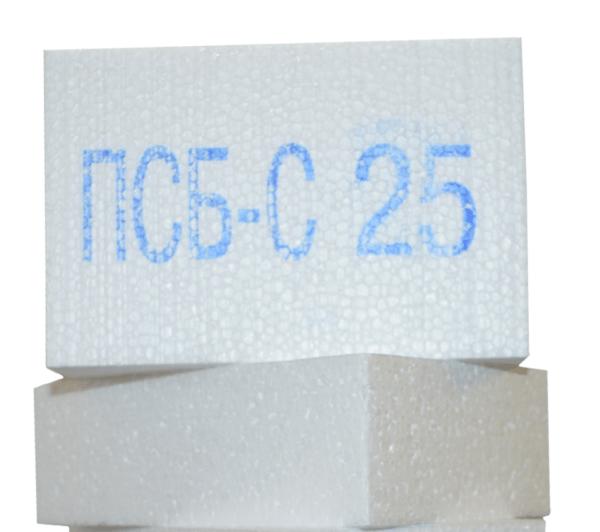 Пенопласт плотностью 25 кг/м3 наиболее прочный