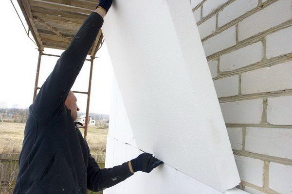 Пенопласт утепление стен снаружи