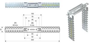 Подвес прямой для металлических профилей