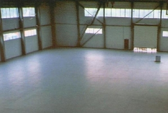 Покрытый краской бетон
