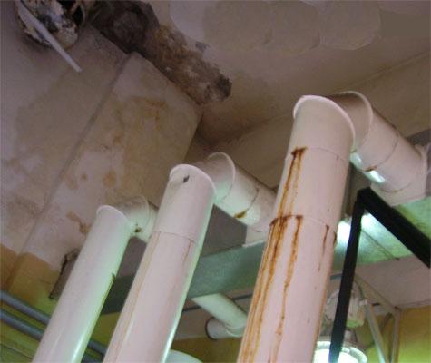 Последствия конденсации влаги в вентканале.