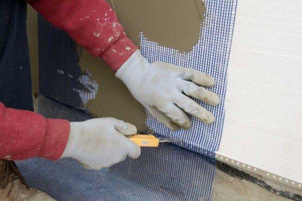 Применение армирующей сетки