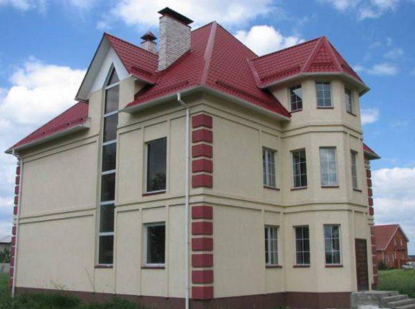 Пример отделки по технологии мокрый фасад
