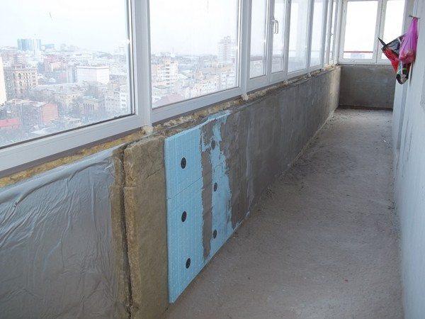 Утепление балкона базальтовый утеплитель.