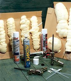 Пробы различных видов пены на ее свойства при застывании