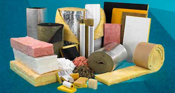 Различные виды материалов для утепления зданий.