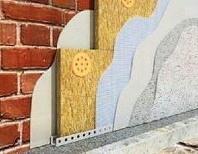 Разрез стены с утеплителем – схематическое изображение