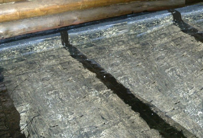 Рубероид – первый слой гидроизоляции
