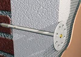Схема крепления пенопласта и отделки стены