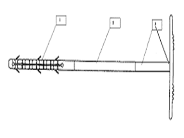 Схема: Тарельчатый дюбель для теплоизоляции
