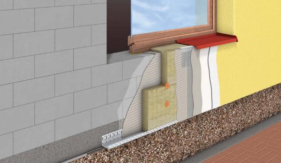 Схема утепление мокрого фасада