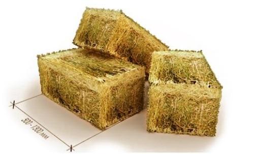 Соломенным блокам придают правильную геометрию, что очень важно при строительстве.