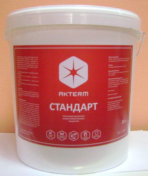 Стандарт – усовершенствованная энергосберегающая краска (на водной основе) для внутренних работ.