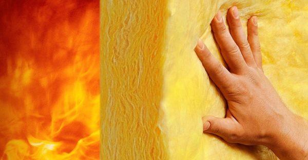 Стекловата устойчива к воздействию огня