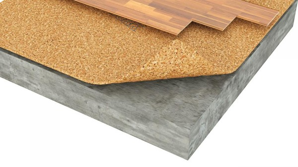 Стойкость к деформациям и шумопоглощение делает пробковый агломерат отличным материалом для подложек