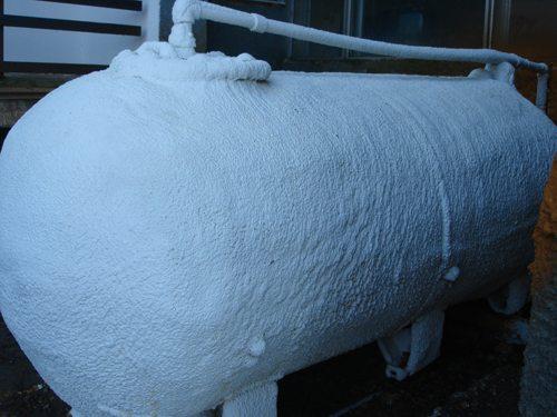 Теплоизоляция емкостей для жидкого топлива полиуретаном
