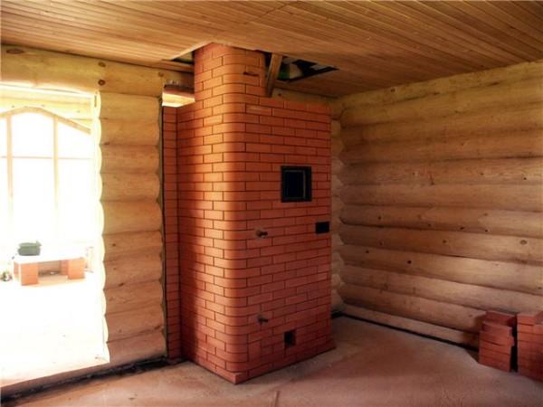 Теплоизоляция печи позволяет обезопасить стены здания от печного жара.