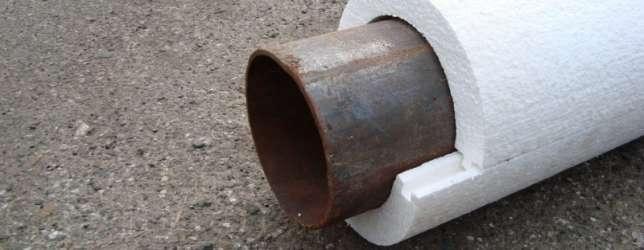 Теплоизоляция пенопластовыми «скорлупами»