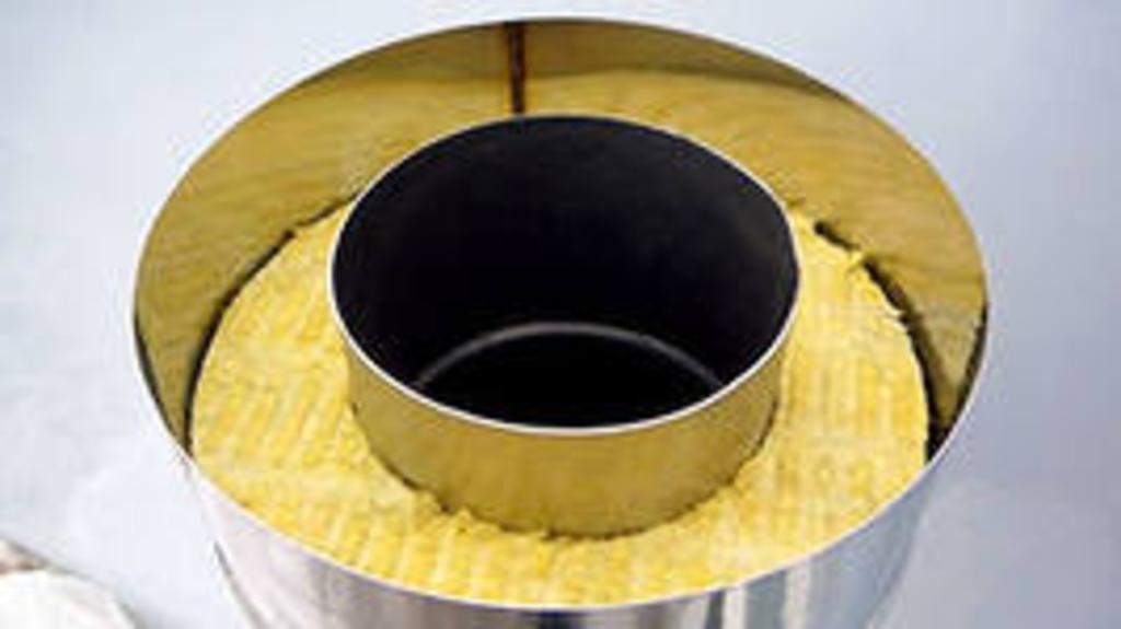 Теплоизоляция стального дымохода