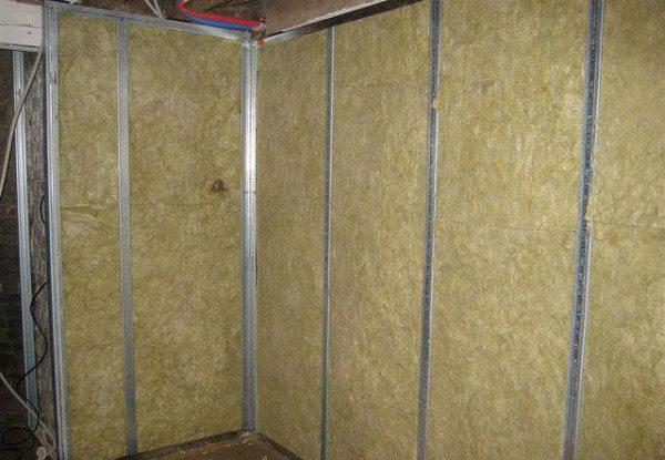 Термоизоляция перегородок внутри помещения