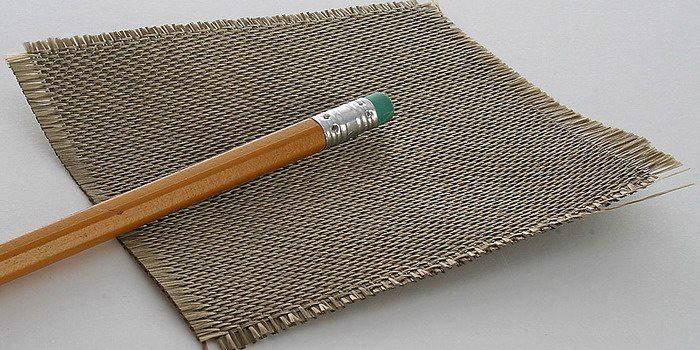 Тканое полотно можно делать из камня.
