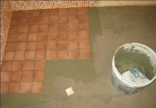 Укладка кафеля на бетонную стяжку