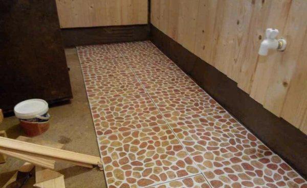 Укладка плитки поверх чернового фанерного пола