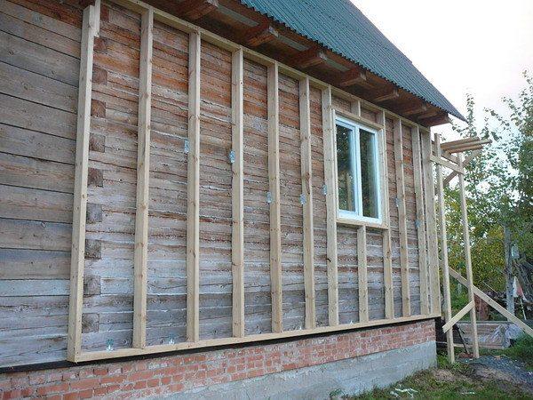 Устройство обрешетки на деревянном доме