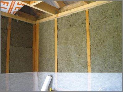 Устройство тепло- и пароизоляции стен