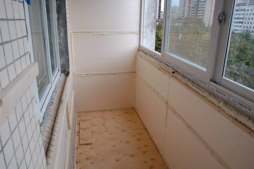 Утепление балкона плитами XPS