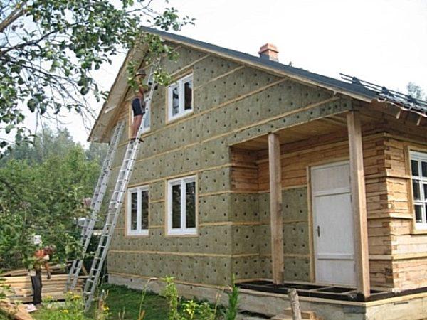 Утепление брусового дома