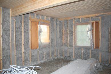 Утепление дома из дерева изнутри