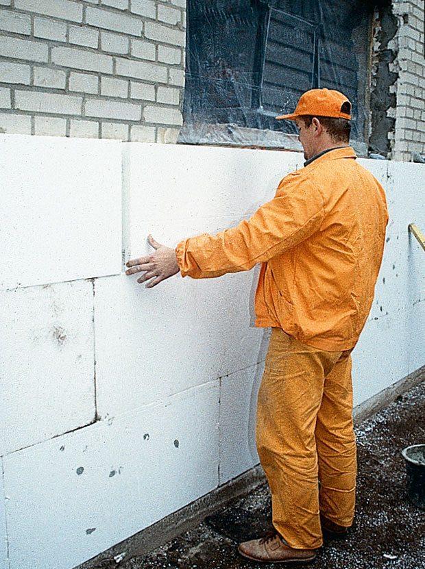 Пошаговые утепления стен пенопластом