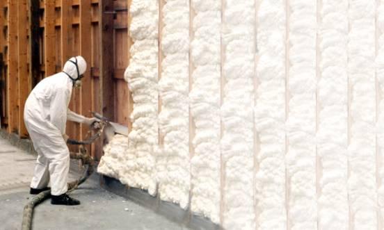 Утепление фасадов пеной из распылителя: фото