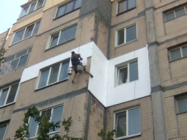 Утепление наружных стен квартир верхних этажей дома