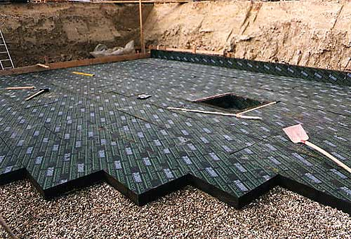 Утепление пола керамзитом на стадии строительства дома