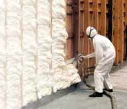 Утепление стены пеноизолом