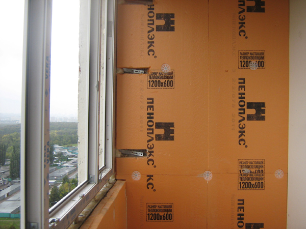 Утепление балкона своими руками пеноплексом