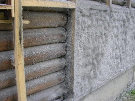 Утепление стены.