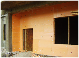 Утепленная бетонная стена