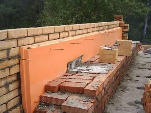 Утеплитель может располагаться не только с улицы или помещения, но и внутри конструкции стены.