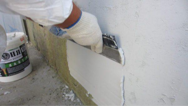 Утепляющая шпаклевка может наноситься слоем в 1 мм