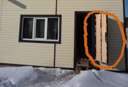 Вариант теплоизоляции дверей