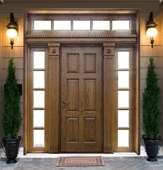 Как сделать входную дверь в частном доме
