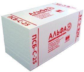 Внешний вид упаковки вспененного полистирола для утепления помещений от известного производителя