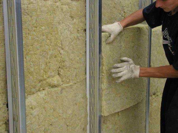 Внутренняя теплоизоляция для стен минераловатными плитами